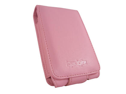 iGadgitz Pink PU Leather Case for Apple iPod Classic 80gb, 120gb & latest 160gb + Belt Clip & Screen Protector Thumbnail 3