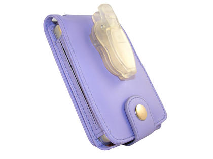 iGadgitz Purple PU Leather Case for Apple iPod Classic 80gb, 120gb & latest 160gb + Belt Clip & Screen Protector Thumbnail 5
