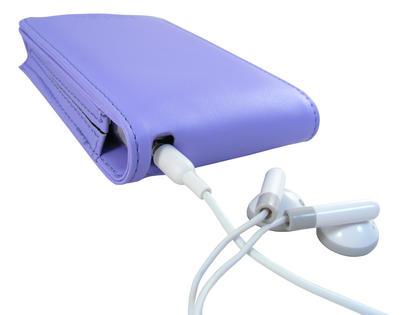 iGadgitz Purple PU Leather Case for Apple iPod Classic 80gb, 120gb & latest 160gb + Belt Clip & Screen Protector Thumbnail 2