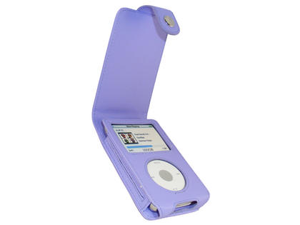 iGadgitz Purple PU Leather Case for Apple iPod Classic 80gb, 120gb & latest 160gb + Belt Clip & Screen Protector Thumbnail 1