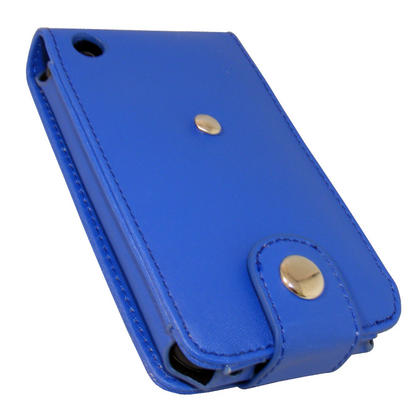 iGadgitz Blue Leather Case Cover for Apple iPhone 3G & 3GS 8gb, 16gb & 32gb + Screen Protector + Detachable Belt-Clip Thumbnail 5