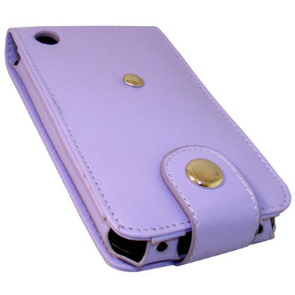 iGadgitz Purple Leather Case Cover for Apple iPhone 3G & 3GS 8gb, 16gb & 32gb + Screen Protector + Detachable Belt-Clip Thumbnail 5