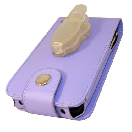 iGadgitz Purple Leather Case Cover for Apple iPhone 3G & 3GS 8gb, 16gb & 32gb + Screen Protector + Detachable Belt-Clip Thumbnail 4