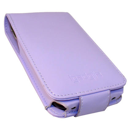 iGadgitz Purple Leather Case Cover for Apple iPhone 3G & 3GS 8gb, 16gb & 32gb + Screen Protector + Detachable Belt-Clip Thumbnail 2