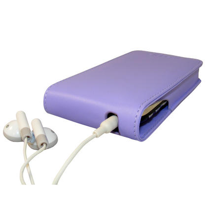 iGadgitz Purple Leather Case Cover for Apple iPhone 3G & 3GS 8gb, 16gb & 32gb + Screen Protector + Detachable Belt-Clip Thumbnail 3