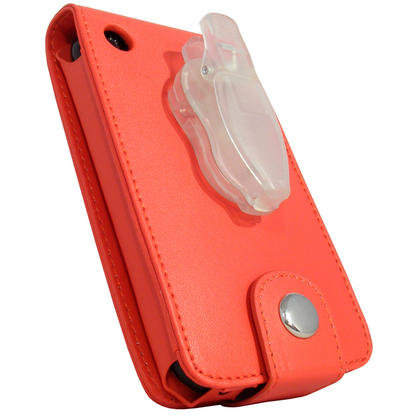 iGadgitz Red PU Leather Case Cover for Apple iPhone 3G & 3GS 8gb 16gb & 32gb + Screen Protector + Detachable Belt-Clip Thumbnail 4