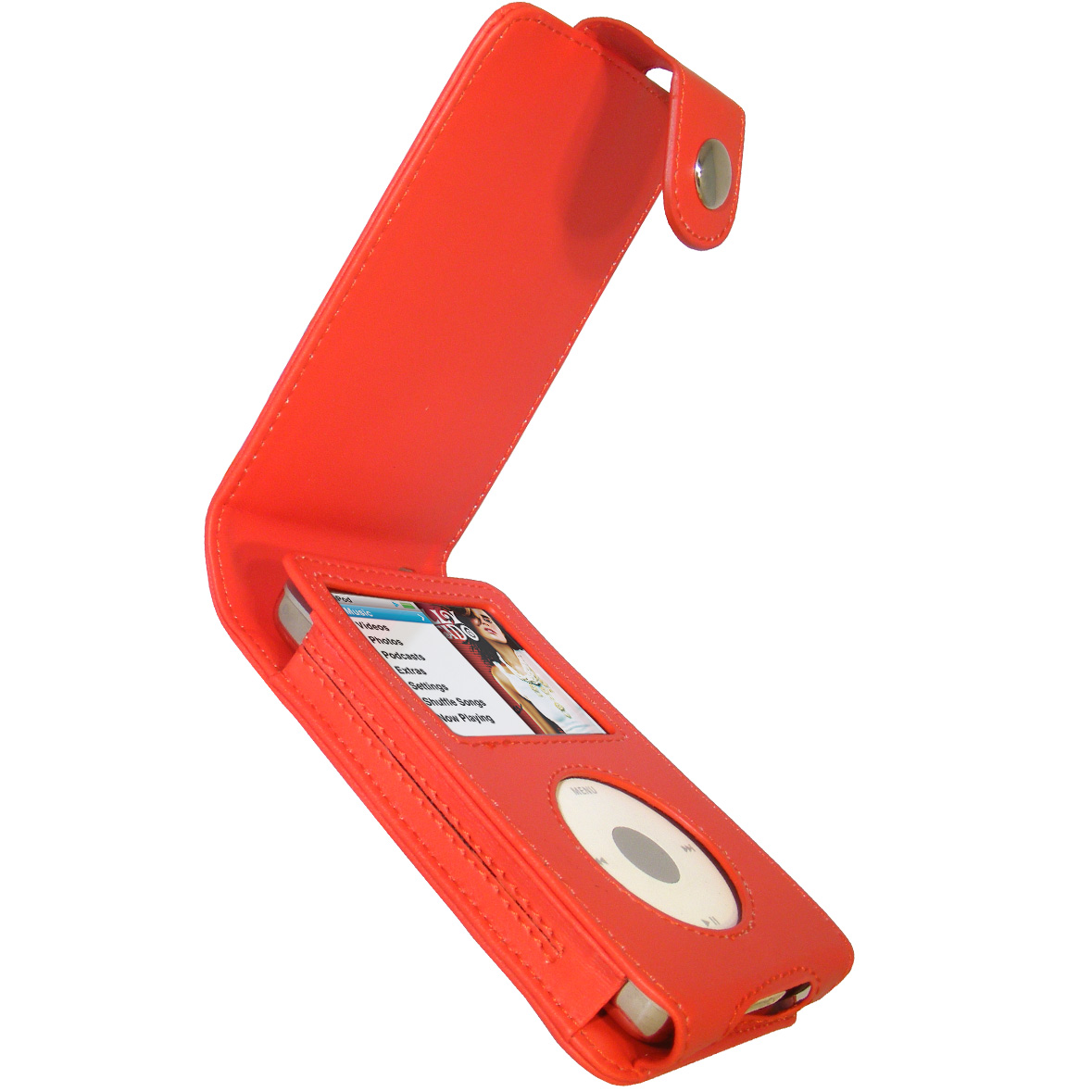 iGadgitz Red PU Leather Case for Apple iPod Classic 80gb, 120gb & latest 160gb + Belt Clip & Screen Protector