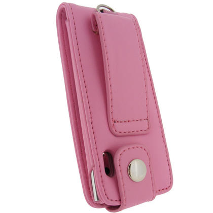 iGadgitz PINK PU Leather Case for Apple iPod Nano 5th Gen (With Video Camera) + Screen Protector & Detachable Caribiner Thumbnail 3