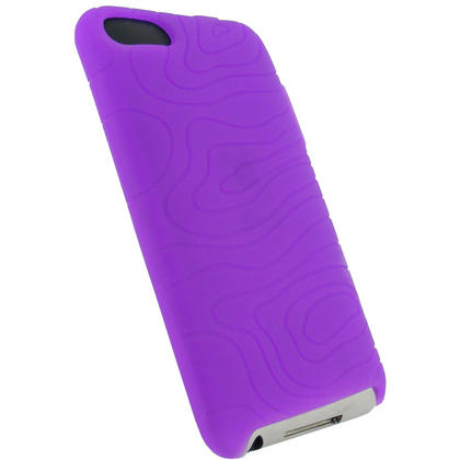 iGadgitz Purple Silicone Skin Case for Apple iPod Touch 2nd & 3rd Generation 8gb, 16gb, 32gb & 64gb + Screen Protector Thumbnail 3