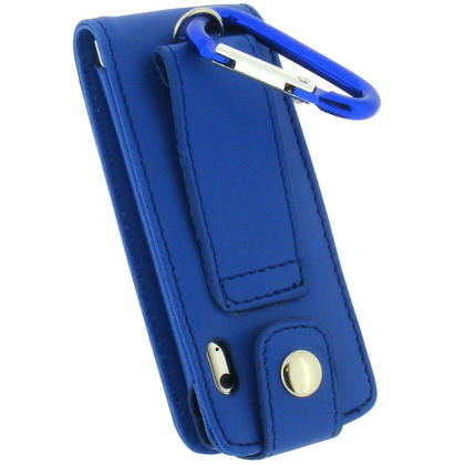 iGadgitz BLUE PU Leather Case for Apple iPod Nano 5th Gen (with Video Camera) + Detachable Carabiner Thumbnail 4