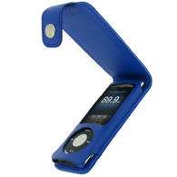 iGadgitz BLUE PU Leather Case for Apple iPod Nano 5th Gen (with Video Camera) + Detachable Carabiner