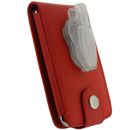 iGadgitz Red PU Leather Case Cover for Apple iPod Touch 2nd & New 3rd Generation 8gb, 16gb, 32gb & 64gb + Belt Clip Thumbnail 4