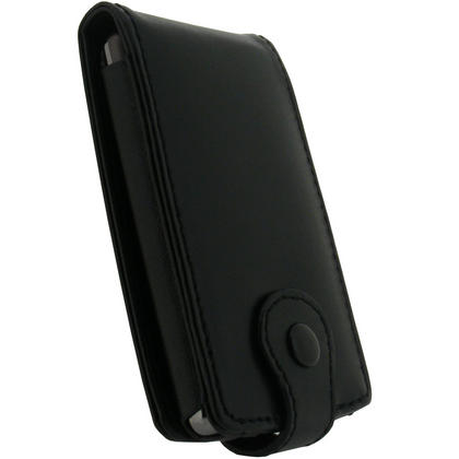 iGadgitz Black Genuine Leather Case Cover for Archos 3 Vision 8GB MP3/MP4 Player Thumbnail 3