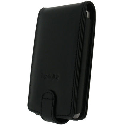 iGadgitz Black Genuine Leather Case Cover for Archos 3 Vision 8GB MP3/MP4 Player Thumbnail 2