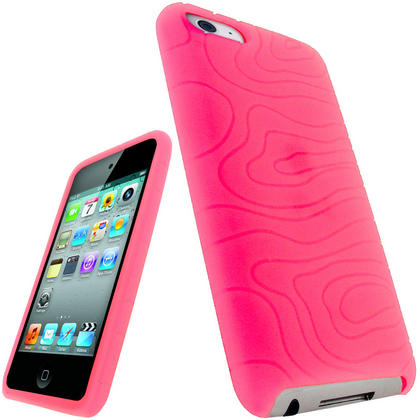 iGadgitz Pink Silicone Skin Case for Apple iPod Touch 2nd & 3rd Generation 8gb, 16gb, 32gb & 64gb + Screen Protector Thumbnail 1