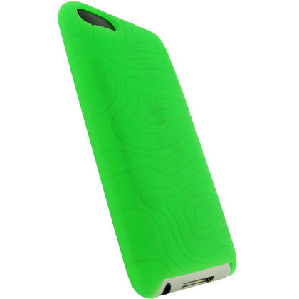iGadgitz Green Silicone Skin Case for Apple iPod Touch 2nd & 3rd Generation 8gb, 16gb, 32gb & 64gb + Screen Protector Thumbnail 3