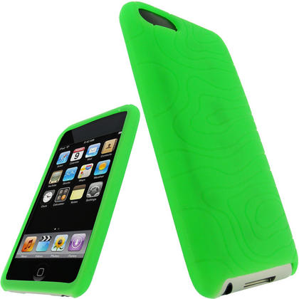 iGadgitz Green Silicone Skin Case for Apple iPod Touch 2nd & 3rd Generation 8gb, 16gb, 32gb & 64gb + Screen Protector Thumbnail 1