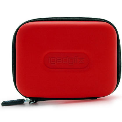 "iGadgitz Red EVA Hard Case Cover for Samsung M3 & P3 500GB, 1TB & 2TB USB 3.0 Slimline 2.5"" Portable Hard Drive Thumbnail 3"