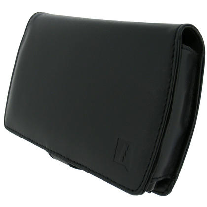 iGadgitz Black Genuine Leather Case for Archos 5 Internet Tablet 160gb & 500gb with Viewing Stand (2009-2010 Model) Thumbnail 2