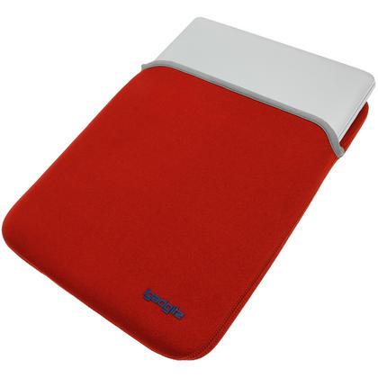 "iGadgitz Red/Black Reversible Neoprene Sleeve Case Cover for Apple MacBook Pro 13.3"" 13""  (Models from 2009 +) Thumbnail 5"