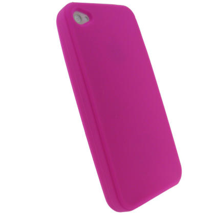 iGadgitz Pink Silicone Skin Case Cover for Apple iPhone 4 HD 16gb & 32gb + Screen Protector. Not suitable for iPhone 4S Thumbnail 3