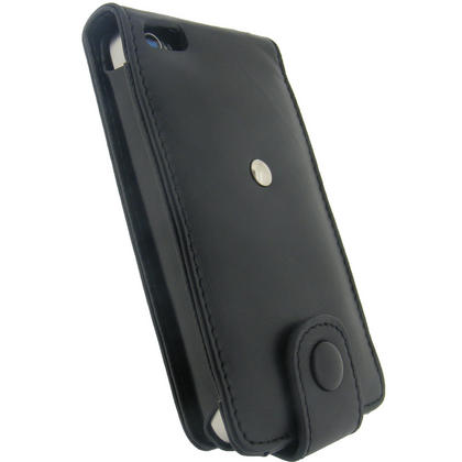 iGadgitz Black Genuine Leather Case for Apple iPhone 4 & 4S 16GB 32GB 64GB + Screen Protector & Detachable Belt Clip Thumbnail 2