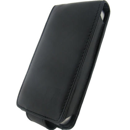 iGadgitz Black Genuine Leather Case for Apple iPhone 4 & 4S 16GB 32GB 64GB + Screen Protector & Detachable Belt Clip Thumbnail 3