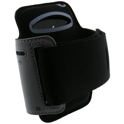 iGadgitz Black & Silver Reflective Neoprene Sports Gym Jogging Armband for Apple iPhone 4 HD & 4S 16GB, 32GB & 64GB Thumbnail 2