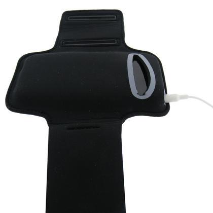 iGadgitz Black & Silver Reflective Neoprene Sports Gym Jogging Armband for Apple iPhone 4 HD & 4S 16GB, 32GB & 64GB Thumbnail 3
