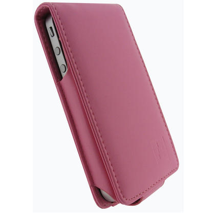 iGadgitz Pink PU Leather Case for Apple iPhone 4 HD & iPhone 4S 16GB 32GB 64GB + Screen Protector & Detachable Belt Clip Thumbnail 2