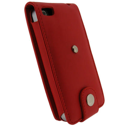 iGadgitz Red PU Leather Case for Apple iPhone 4 HD & 4S 16GB 32GB 64GB + Screen Protector & Detachable Belt Clip Thumbnail 3