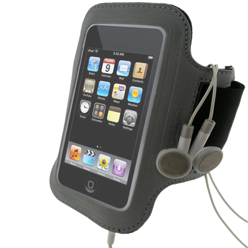 iGadgitz 'Jog Safe' Reflective Neoprene Sports Armband for Apple iPod Touch 2nd, 3rd & 4th Gen 8gb, 16gb, 32gb & 64gb