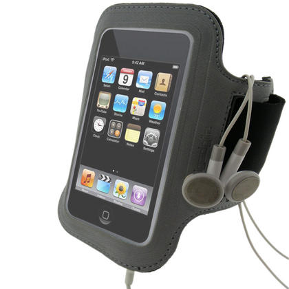 iGadgitz 'Jog Safe' Reflective Neoprene Sports Armband for Apple iPod Touch 2nd, 3rd & 4th Gen 8gb, 16gb, 32gb & 64gb Thumbnail 1