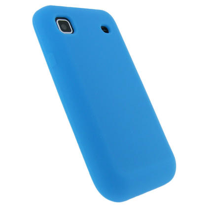 iGadgitz Blue Silicone Skin Case Cover for Samsung i9000 Galaxy S Android Smartphone Mobile Phone + Screen Protector Thumbnail 3