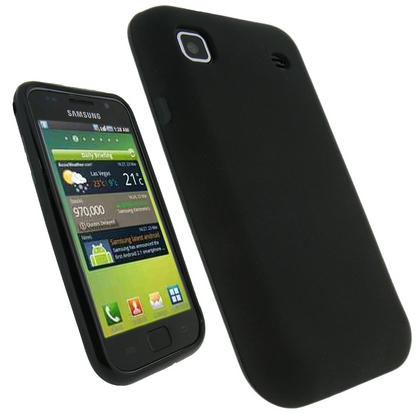 iGadgitz Black Gel Case Cover for Samsung i9000 Galaxy S Phone + Screen Protector Thumbnail 1