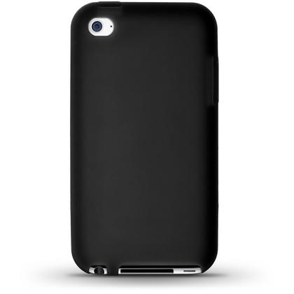 iGadgitz Black Silicone Skin Case Cover for Apple iPod Touch 4th Generation 8gb, 32gb, 64gb + Screen Protector Thumbnail 4