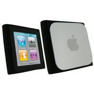 iGadgitz Black Silicone Skin Case Cover for Apple iPod Nano 6th Generation 8gb, 16gb + Screen Protector