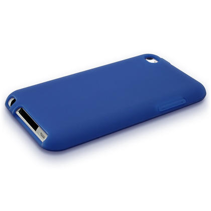 iGadgitz Blue Silicone Skin Case Cover for Apple iPod Touch 4th Generation 8gb, 32gb, 64gb + Screen Protector Thumbnail 2