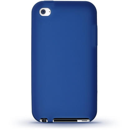 iGadgitz Blue Silicone Skin Case Cover for Apple iPod Touch 4th Generation 8gb, 32gb, 64gb + Screen Protector Thumbnail 4