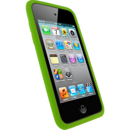iGadgitz Green Silicone Skin Case Cover for Apple iPod Touch 4th Generation 8gb, 32gb, 64gb + Screen Protector Thumbnail 2