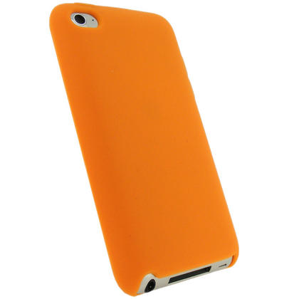 iGadgitz Orange Silicone Skin Case Cover for Apple iPod Touch 4th Generation 8gb, 32gb, 64gb + Screen Protector Thumbnail 3