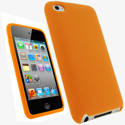 iGadgitz Orange Silicone Skin Case Cover for Apple iPod Touch 4th Generation 8gb, 32gb, 64gb + Screen Protector Thumbnail 1