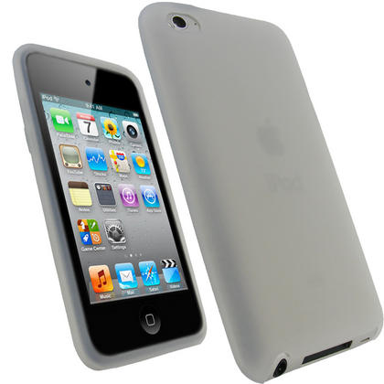 iGadgitz Clear Silicone Skin Case Cover for Apple iPod Touch 4th Generation 8gb, 32gb, 64gb + Screen Protector Thumbnail 1