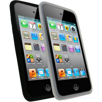 iGadgitz Silicone Skin Case Bundle in Black and Clear for Apple iPod Touch 4th Gen 8gb, 32gb, 64gb + Screen Protectors Thumbnail 1
