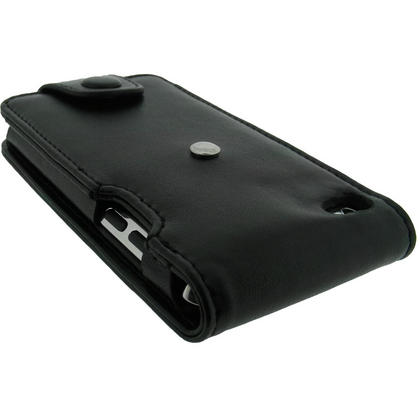 iGadgitz Black Leather Case Cover for Apple iPod Touch 4th Gen 8gb, 32gb & 64gb + Belt Clip & Screen protector Thumbnail 6