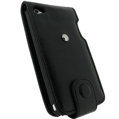 iGadgitz Black Leather Case Cover for Apple iPod Touch 4th Gen 8gb, 32gb & 64gb + Belt Clip & Screen protector Thumbnail 3