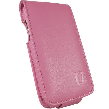 iGadgitz Pink PU Leather Case Cover for Apple iPod Touch 4th Generation 8gb, 32gb & 64gb + Belt Clip & Screen protector Thumbnail 2