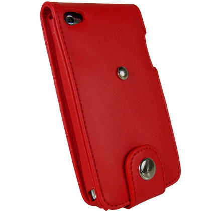 iGadgitz Red PU Leather Case Cover for Apple iPod Touch 4th Generation 8gb, 32gb & 64gb + Belt Clip & Screen protector Thumbnail 3