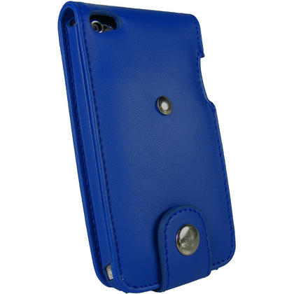 iGadgitz Blue PU Leather Case Cover for Apple iPod Touch 4th Generation 8gb, 32gb & 64gb + Belt Clip & Screen protector Thumbnail 3