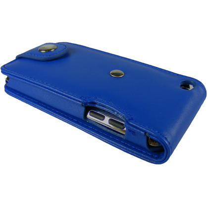 iGadgitz Blue PU Leather Case Cover for Apple iPod Touch 4th Generation 8gb, 32gb & 64gb + Belt Clip & Screen protector Thumbnail 5